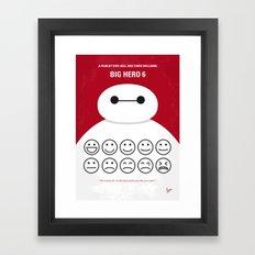 No649 My Big Hero 6 minimal movie poster Framed Art Print