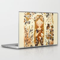 her Laptop & iPad Skins featuring The Queen of Pentacles by Teagan White