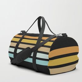 Retro Sunshine Stripes Duffle Bag