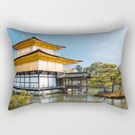 Magnificent Golden Pavilion in Kyoto, Japan Rectangular Pillow