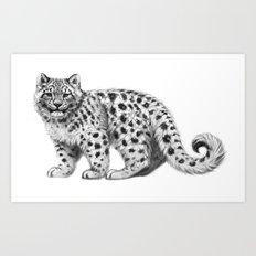 Snow Leopard cub g142 Art Print