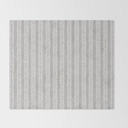 Mud cloth - Grey Arrowheads Throw Blanket