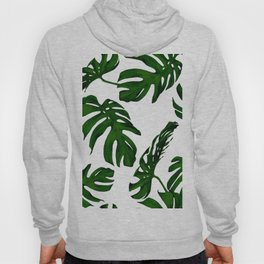 Simply Tropical Palm Leaves in Jungle Green Hoody