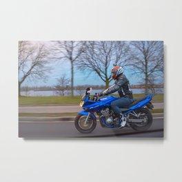 Moto-tastic shot Metal Print