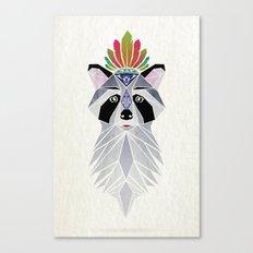 raccoon spirit Canvas Print