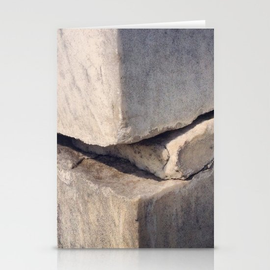 Cracked Tombstone Stationery Cards