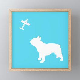 French Bull dog art Framed Mini Art Print