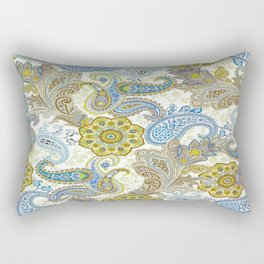 Golden Paisley Rectangular Pillow