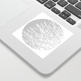 Planet Surface Circle Sticker