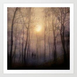 Eternal walk by Viviana Gonzalez Art Print