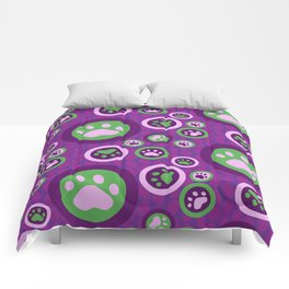 Purple Dog Lovers Pattern Comforters