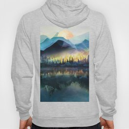 Mountain Lake Under Sunrise Hoody