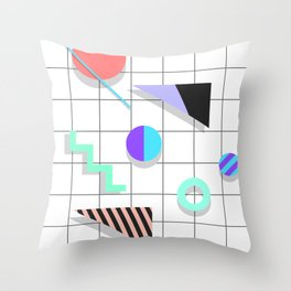 Memphis Things Throw Pillow