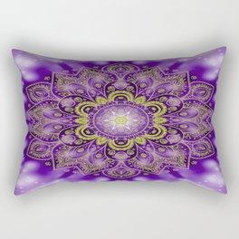 Mandala of Lights on Purple Rectangular Pillow