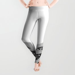 Gray Agave with Black Silver Glitter #1 #shiny #tropical #decor #art #society6 Leggings