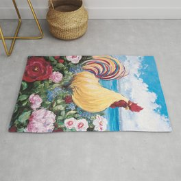 Rooster by the Bay Rug