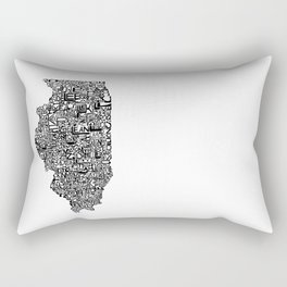 Typographic Illinois Rectangular Pillow