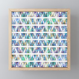 Geometric Glossy Pattern G331 Framed Mini Art Print