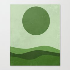 Green Sea Canvas Print