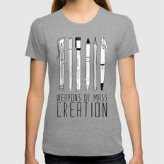 weapons of mass creation MEDIUM Womens Fitted Tee Tri-Grey