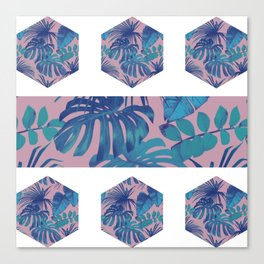 Botanical Hexagon Canvas Print