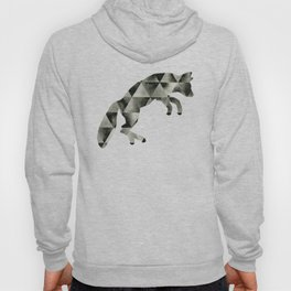 Geometric Fractured Fox  Hoody