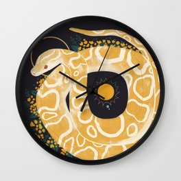 Familiar - Burmese Python Wall Clock