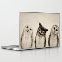friend Laptop & iPad Skins featuring The Owl's 3 by Isaiah K. Stephens