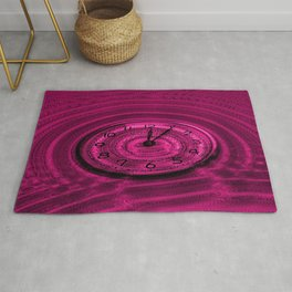 Hands of Time Pink Rippling Water Art Motif Rug