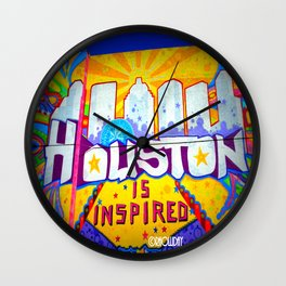 Houston is Inspired Wall Clock
