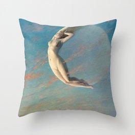 Albert Aublet Selene 1880 Throw Pillow