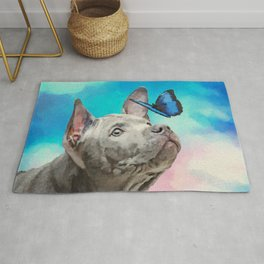 Blue Thai Ridgeback Puppy with Butterfly Rug
