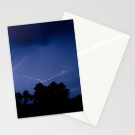 Lightning Over the Valley Nature Night Photograph Stationery Cards