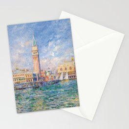The Palace of the Doge's & St. Mark's Square Venice Italy landscape painting by Pierre Renoir Stationery Cards