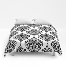 Black and White Damask Comforters