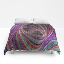 Psychedelic colors Comforters