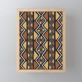 African mud cloth Mali Framed Mini Art Print