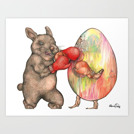 Easter Knockout  Art Print