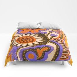 Psychedelic Flowers Comforters