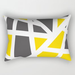 Abstract Interstate  Roadways Gray & Yellow Color Rectangular Pillow