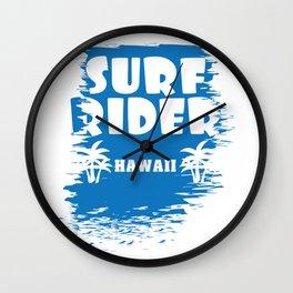 Fresh Hawaiian Style Tshirt Design Surf Rider Wall Clock