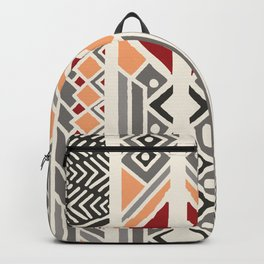 Tribal ethnic geometric pattern 034 Backpack