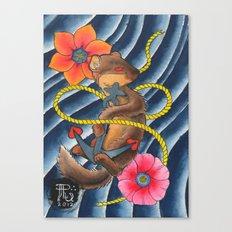 Don't Weasel Around Canvas Print