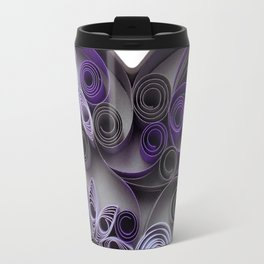 Purple Grey Love Heart Paper Quilled Colorful Heart Wedding Anniversary Gift Travel Mug
