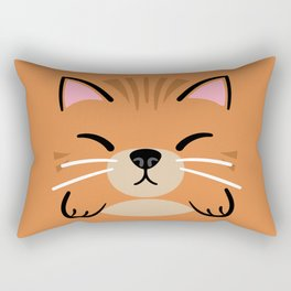 Orange Tabby Rectangular Pillow