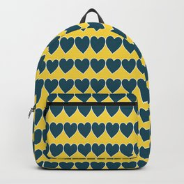 Blue and Yellow Hearts Pattern 029#001 Backpack