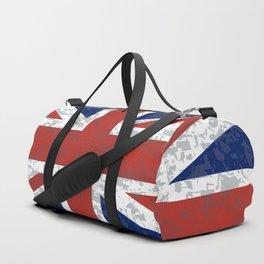 Grunge Union Jack Flag Duffle Bag