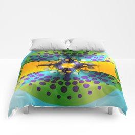 Shiny Atomic Object D'Art Comforters