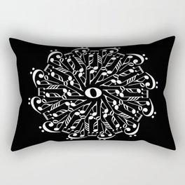 Musical mandala - inverted Rectangular Pillow