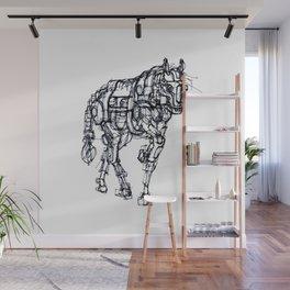 mechanical horse Wall Mural